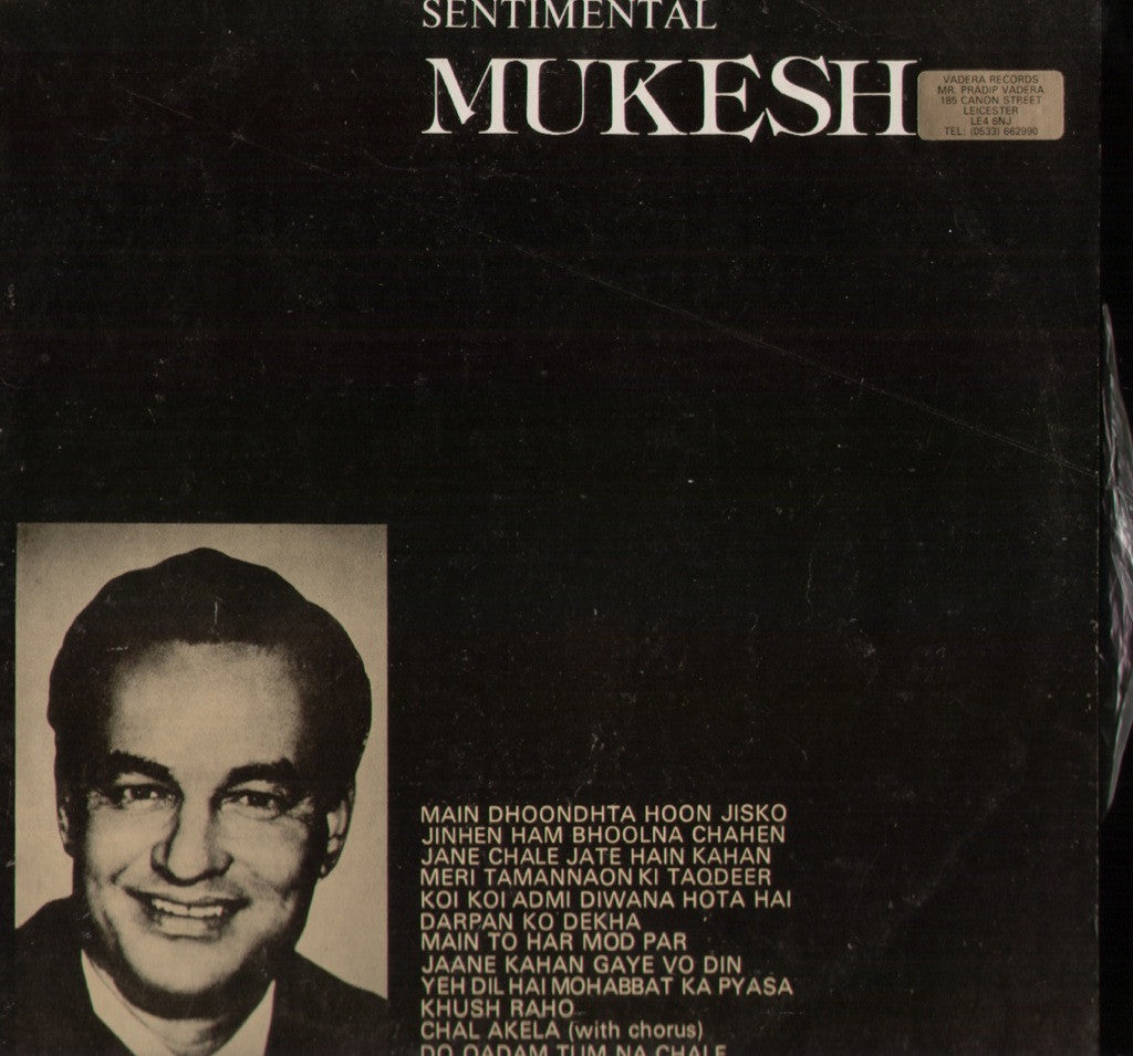 MUKESH - SENTIMENTAL MUKESH Bollywood Vinyl LP