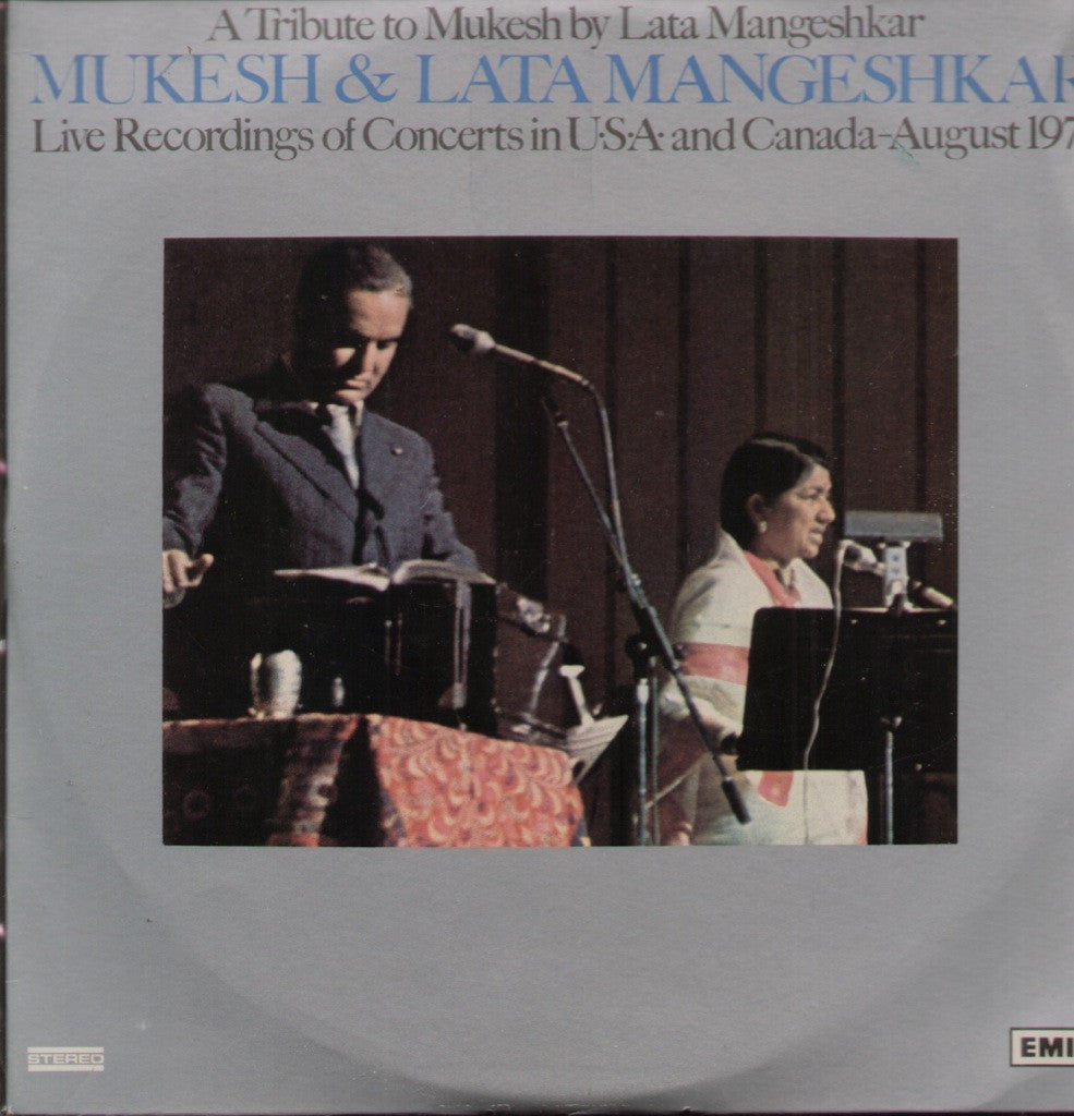 Mukesh and Latha - Bollywood Vinyl LP