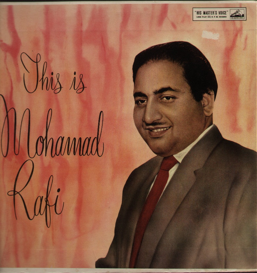 This is Mohd Rafi - Ghazals & Bhajans by Khyyaam - Indian Vinyl LP