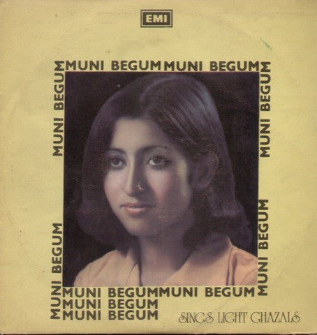 MUNI BEGUM- light ghazals Bollywood Vinyl LP