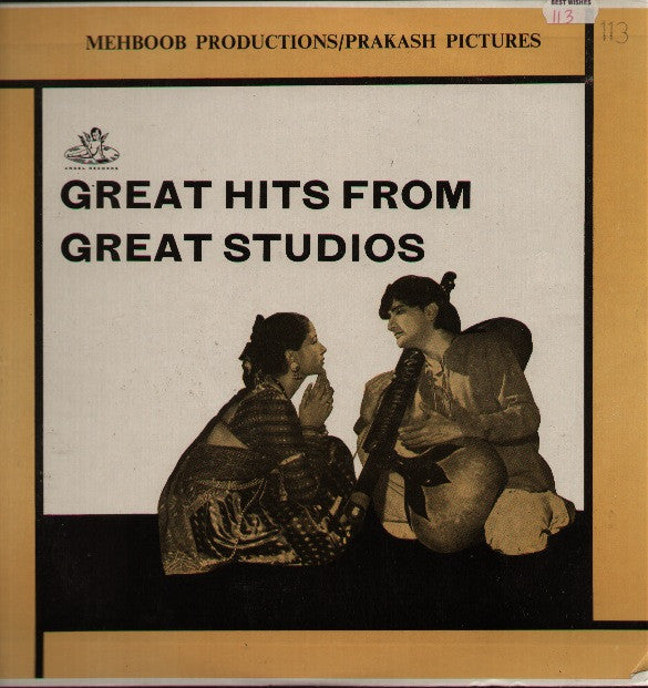 Great Hits From Great Studios - Mehboob Indian Vinyl LP