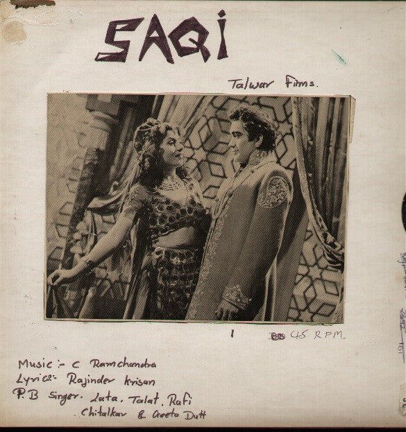 Saqi Bollywood Vinyl LP