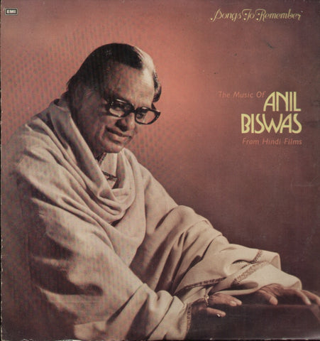 Anil Biswas - Songs to remember - Classical Compilation Indian Vinyl LP