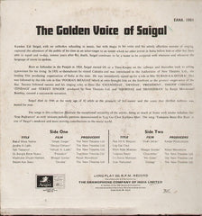 The Golden voice of K L Saigal Bollywood Vinyl LP