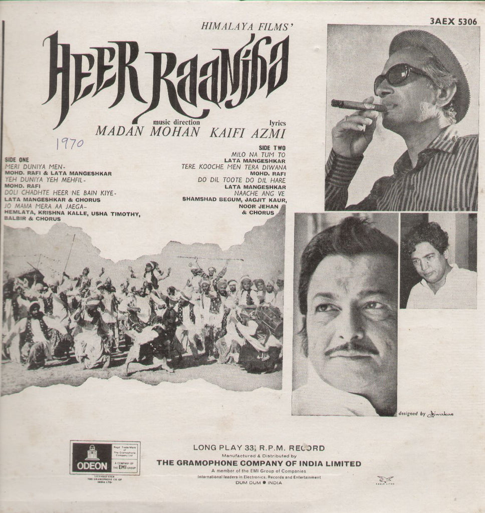 Heer Ranjha - 1970s Hit Indian Vinyl LP