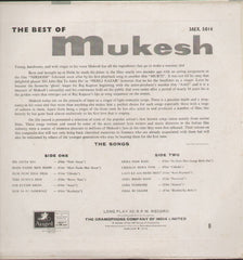 Mukesh - The best of Mukesh Bollywood Vinyl LP