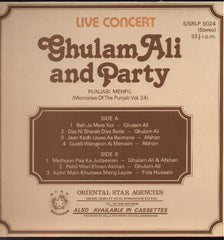 Ghulam Ali & Party - Punjabi Mehfil Indian Vinyl LP