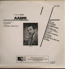 Aadmi Hindi Bollywood Vinyl LP