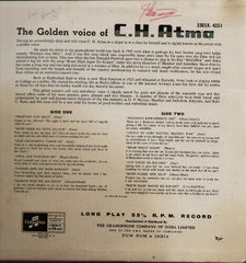 C.H. Atma - The Golden Voice Bollywood Vinyl LP