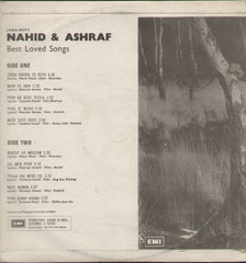 Ashraf And Nahid - Best-Loved Songs - Bollywood Vinyl LP