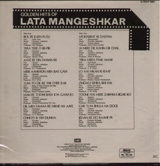 Lata Mangeshkar - Golden Hits India Vinyl LP