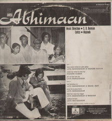 Abhimaan - Mint - 1970s Hit Film LP