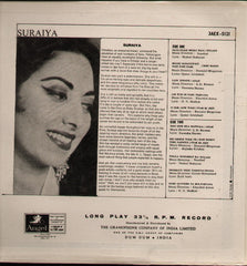 Suraiya - The Hits Bollywood Vinyl LP