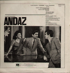 Andaz - Dilip / Raj Kapoor Blockbuster film Indian Vinyl LP