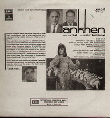 Ankhen - Hindi Indian Vinyl LP