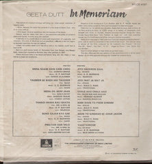 Geeta Dutt - in memorium Indian Vinyl LP