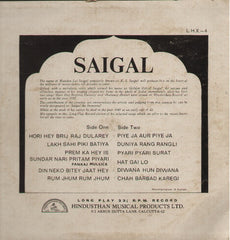 K L Saigal - The melody Of - used Bollywood Vinyl LP