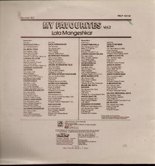 Lata Mangeshkar - My Favourites Volume 2 - Indian Vinyl LP