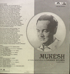 Mukesh an instrumental tribute by Sammy Reuben Bollywood Vinyl LP