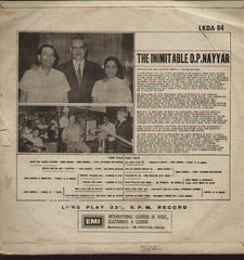 O.P. Nayyar - The Inimitable Bollywood Vinyl LP