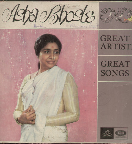 Asha Bhosle - Great Artiste, Great Songs Compilations Vinyl LP