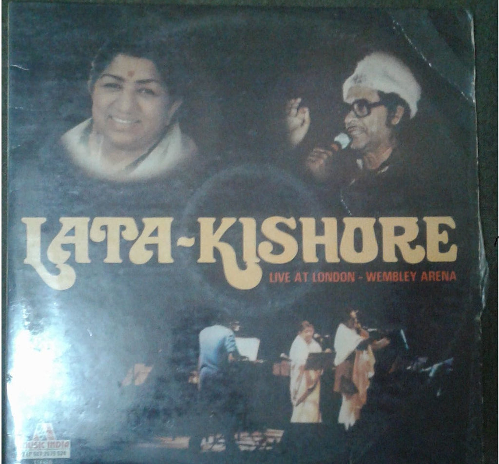 Lata - Kishore Live at London Wembley Arena - Compilations Bollywood Vinyl LP - Dual LPs