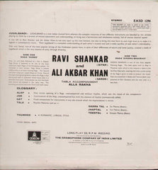 Ravi Shankar and Ali Akbar Bollywood Vinyl LP