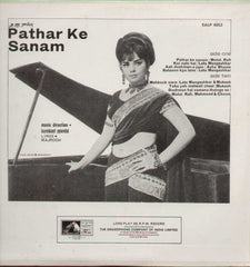 Pathar Ke Sanam Hindi 1960 Indian Vinyl LP