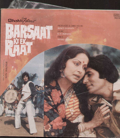 Barsaat Ki Ek Raat 1970 Hindi Bollywood Vinyl LP