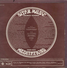 Star Music Debabrath Chaudhuri, Faiyaz Khan Meditation Indian Vinyl LP