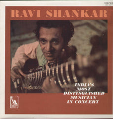 Ravi Shankar In Concert Indian Vinyl LP
