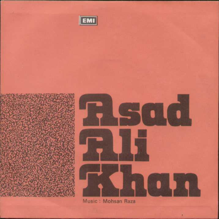 Asad Ali Khan Pakistani Bollywood Vinyl EP