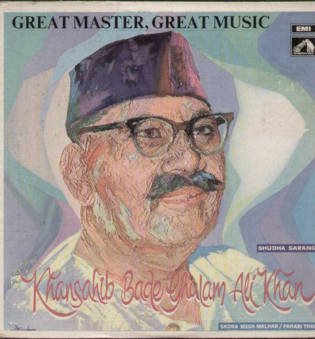 Great Master, Great Music. Ustad Bade Ghulam Ali Khan Bollywood Vinyl LP- Frist Press