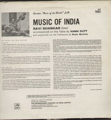 Ravi Shankar Bollywood Vinyl LP