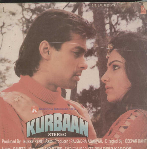 Kurbaan 1991 Bollywood Vinyl LP