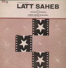 Latt Saheb 1960  Bollywood Vinyl LP