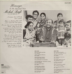 Homage To The Immortal Voice Mohd.Rafi Bollywood Vinyl LP