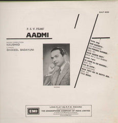 Aadmi 1968 Bollywood Vinyl LP