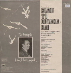 Ramu To Diwana Hai 1980 Bollywood Vinyl LP