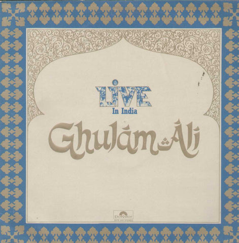 Live In India Ghulam Ali Bollywood Vinyl LP