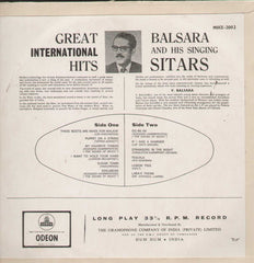 Balsara And His Singing Sitars Bollywood Vinyl LP- First Press