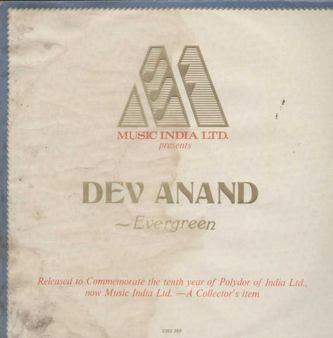 Dev Anand Evergreen Bollywood Vinyl LP