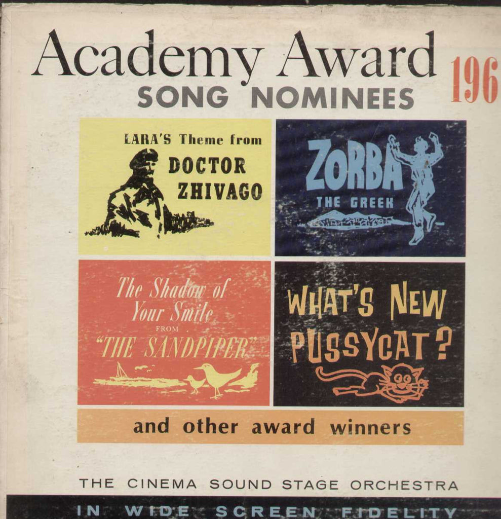 Academy Award Song Nominees 1966 English Vinyl LP