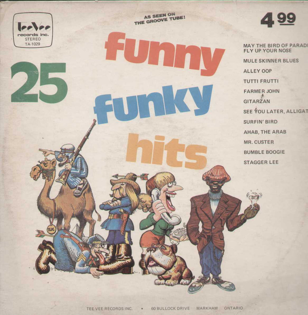 25 Funny Funky Hits English Vinyl LP