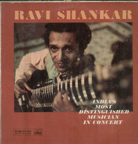 Ravi Shankar India's Most Distinguished Musician In Concert Bollywood Vinyl LP- First Press
