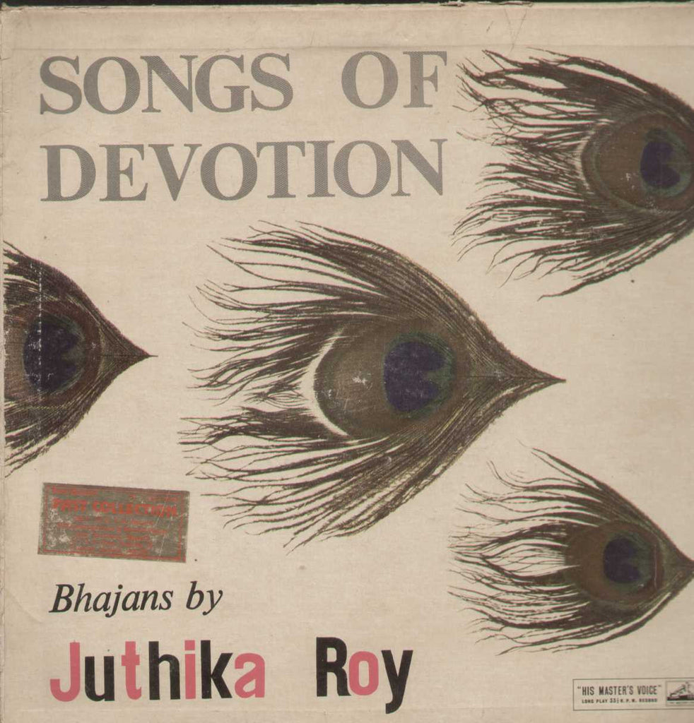 Songs Of Devotion Bhajans By Juthika Roy Bollywood Vinyl LP- First Press