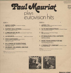 Paul Mauriat Plays Eurovision Hits English Vinyl LP