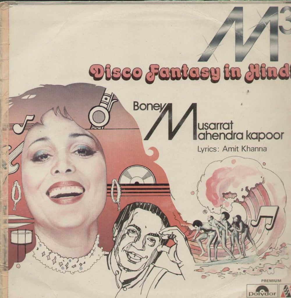 M3 Disco Fantasy In Hindi Boney Musarrat Mahendra Kapoor Bollywood Vinyl LP