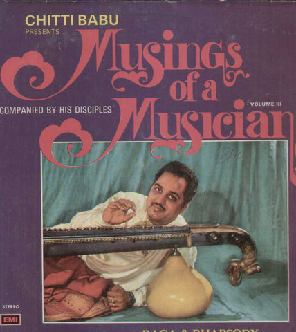 Chitti Babu Presents Musings Of A Musician Vol 3 Bollywood Vinyl LP