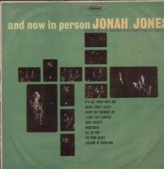 And Now In Person Jonah Jones English Vinyl LP